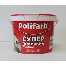 Фарба водоемульсія  Polifarb Акрилфарба, 1,4кг