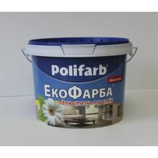 Фарба водоемульсія  Polifarb Екофарба, 7 кг