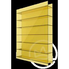 Полікарбонат сотовий Soton жовтий, 10 мм