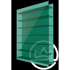 Полікарбонат сотовий Soton зелений, 10 мм