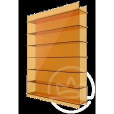 Полікарбонат сотовий Soton оранжевий, 10 мм