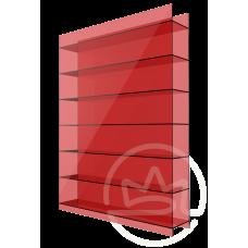Полікарбонат сотовий Soton червоний, 10 мм