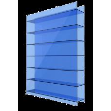 Полікарбонат сотовий Soton синій, 10 мм