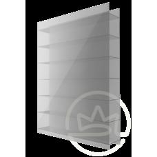 Полікарбонат сотовий Soton срібло, 10 мм