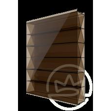 Полікарбонат сотовий Soton Титан бронза, 10 мм