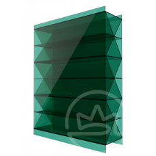Полікарбонат сотовий Soton зелений Титан, 16 мм