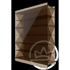 Полікарбонат сотовий Soton бронза Титан, 16 мм