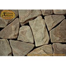 Камінь Рельєфний окатаний, жовтий, 30мм