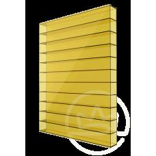 Полікарбонат сотовий Soton жовтий, 6 мм