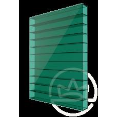 Полікарбонат сотовий Soton зелений, 6 мм