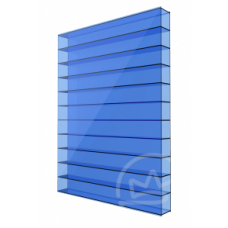 Полікарбонат сотовий Soton синій, 6 мм
