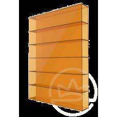 Полікарбонат сотовий Soton оранжевий, 8 мм