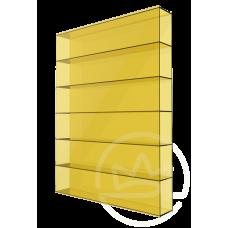 Полікарбонат сотовий Soton жовтий, 8 мм