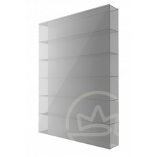 Полікарбонат сотовий Soton срібло, 8 мм