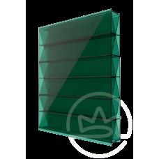 Полікарбонат сотовий Solidprof титан зелений, 8 мм