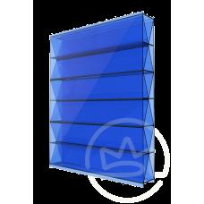 Полікарбонат сотовий Solidprof Титан синій, 8 мм