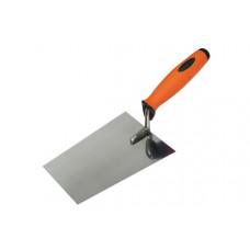 Кельма шпаклювальна сталева з нерж.покриттям,ергоном.ручка, 160х80мм