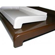 Відлив, білий або коричневий, ширина 190мм