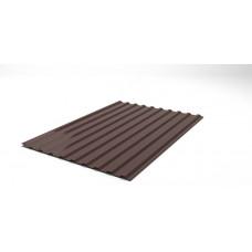 Профнастил шоколадний НС-14, висота 1,5м