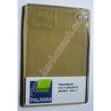Полікарбонат монолітний Palsun бронза 50% 2050х3050 мм, 3 мм
