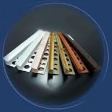 Кутники для плитки внутрішні та зовнішні, кольорові, 2,5м