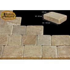 Камінь Мостовий, різаний, старенний, окатаний, 40-60мм