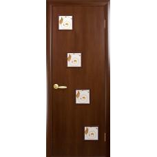 """Двері """" ПВХ DELUXE КВАДРА Р""""R (Ронда)"""